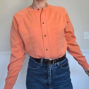 Vintage orange cardigan